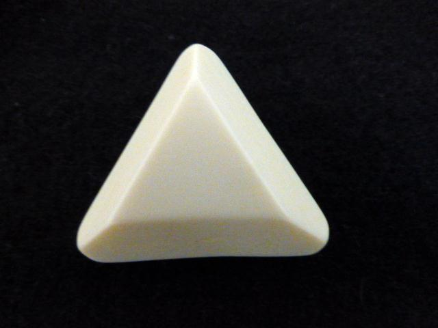 Ivory White Extra Large Chunky Triangle button (no.01126)