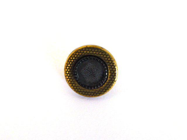 Gunmetal Centre Brass Tiny button (no.00449)