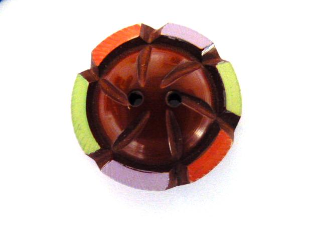 Multicolour Maroon Dome button