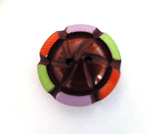 Multicolour Maroon Small button