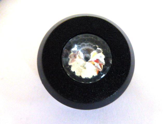 Black and Diamond centre button