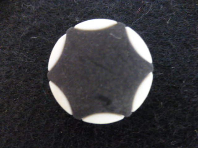 Black and White Star button