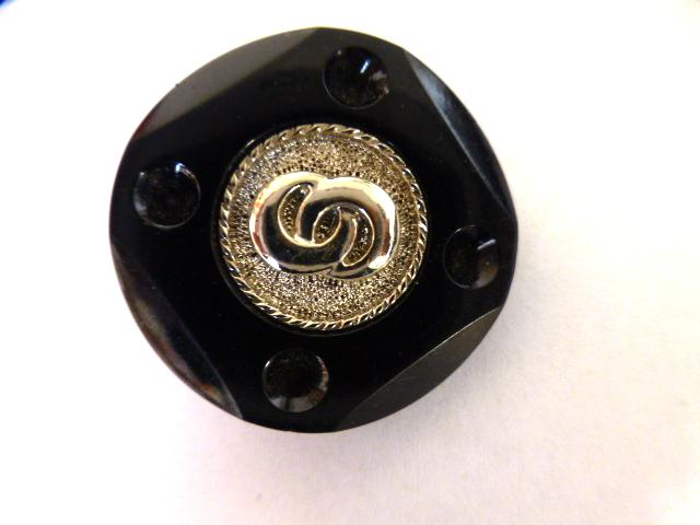 Black Silver button