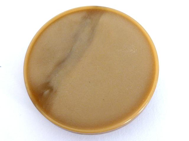 Beige Streak Extra Large French Vintage Plastic button