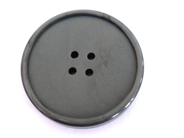 Grey French Early Plastic 4 Hole Extra Large button (no.00704)