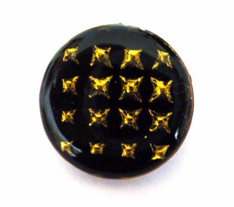 Black Rose Gold 3-D Star Large button