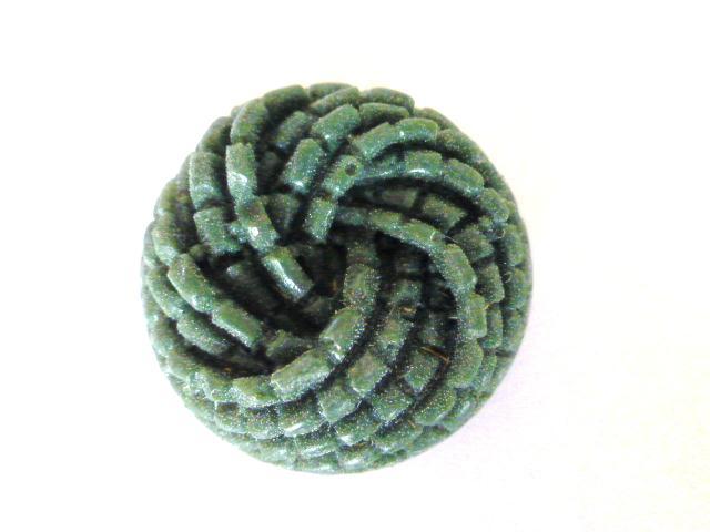 Green Rope Twist button (no.01169)