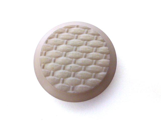 Clover Mauve Basket Weave button (no.01196)