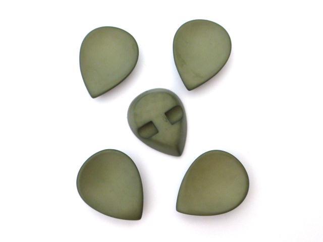 Green Teardrop Set of 5 buttons