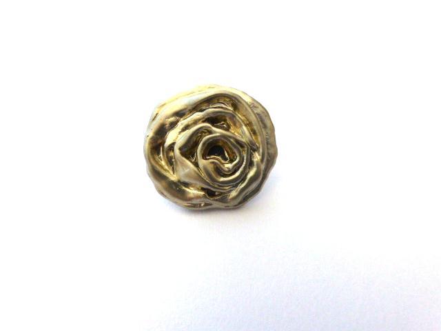 Silver Rose Modern Small button