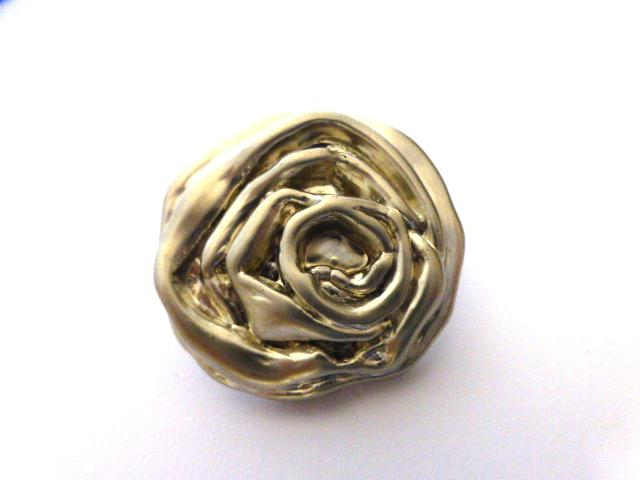 Silver Rose Modern Large button