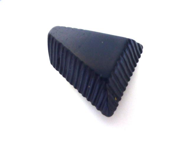 Indigo Blue Groovy Triangle button (no.01167)