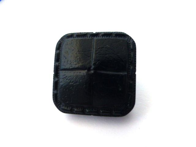 Navy Faux Leather Weave Square button (no.01087)