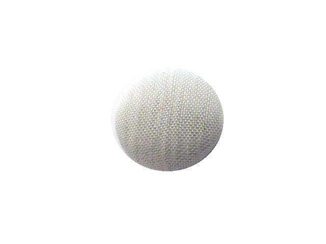 White Satin Stripe Small Fabric button (no.00733)