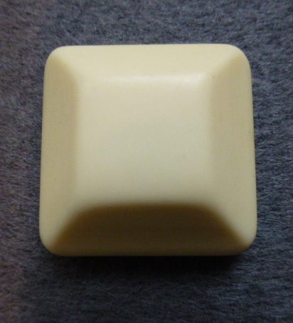 Ivory White Extra Large Chunky Square button (no.01115)