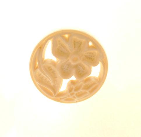 Ivory Openwork Flower button (No.00290)