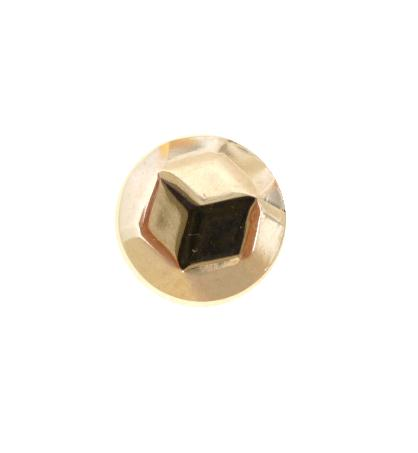 Tiny Faceted Steel Knop button (No.00577)