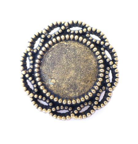 Antiqued Brass Open Frame button (No.00102)
