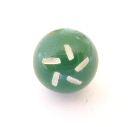 Cut Small Green Bobble button (no.00334)