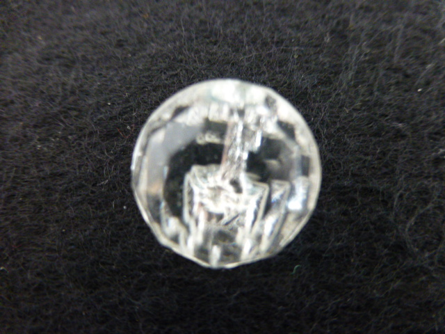 Faceted Clear Glass Ball button (no.00331)