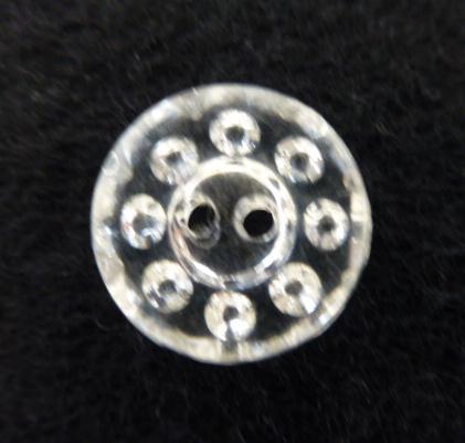Clear Plastic Circles button (no.00348)