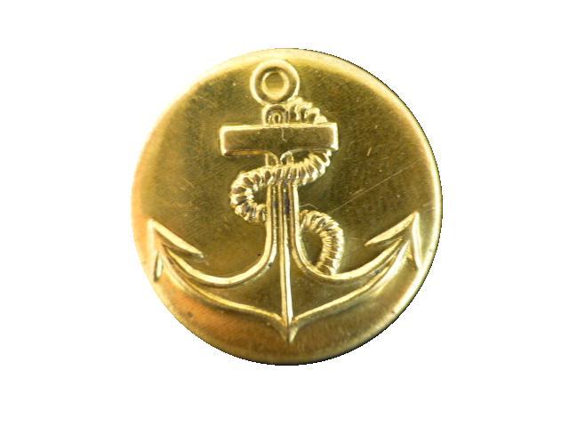 Brass Vintage Anchor button (no.00360)