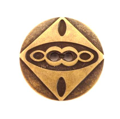 Aztec Bronze Finish Gold button (no.00286)