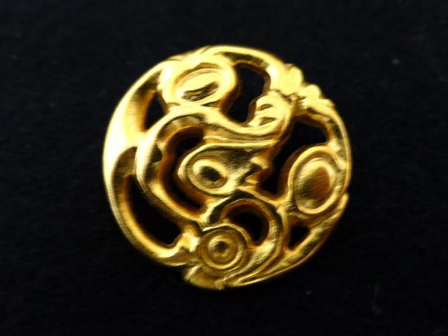 Art Nouveau-style Gilt Openwork button (No.00107)