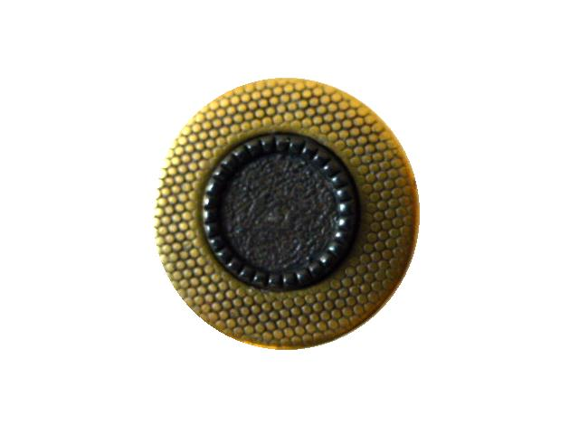 Gunmetal Centre Flat Brass button (no.00090)