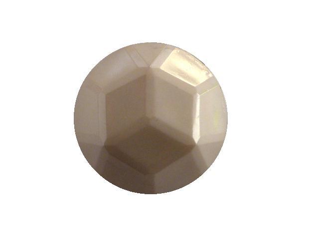 Dove Grey Facet Dome button (no.00391)