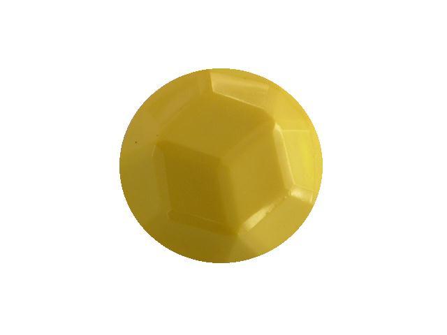 Lemon Yellow Facet Dome button (no.00397)