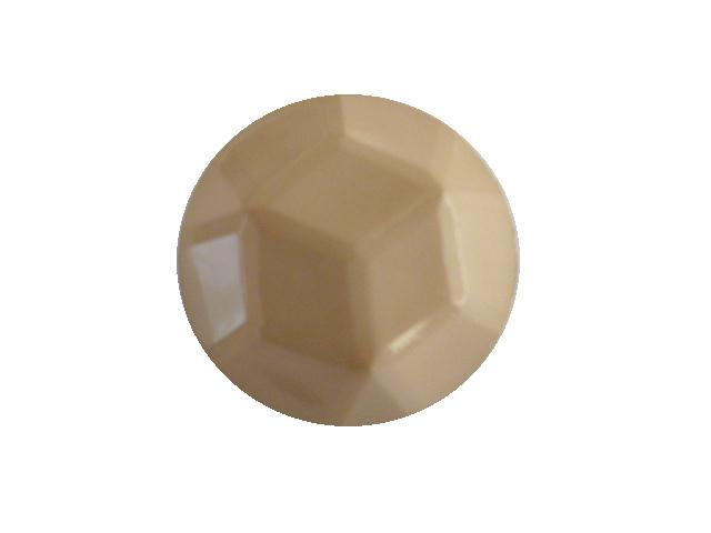 Beige Facet Dome button (no.00390)