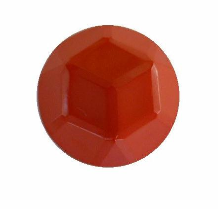 Coral Facet Dome button (no.00399)