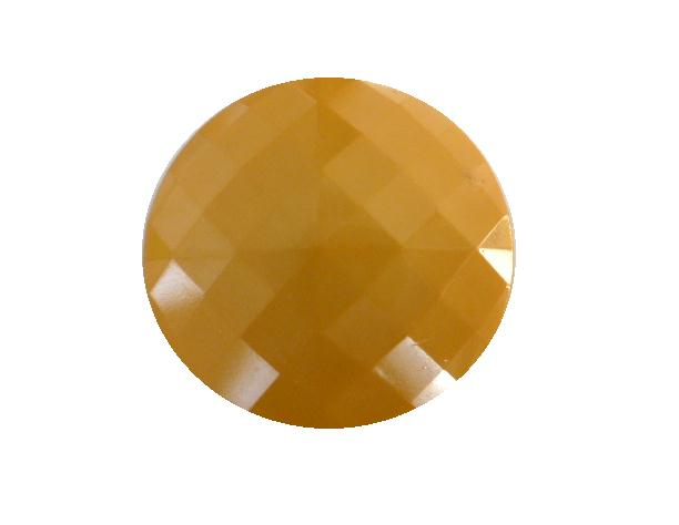Mustard Yellow Square Facet button (no.00415)