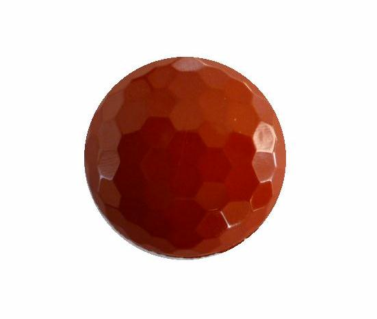 Caramel Orange Hexagonal Facet button (no.00408)
