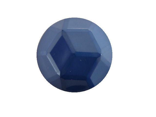 Mediterranean Blue Facet Dome button (no.00394)