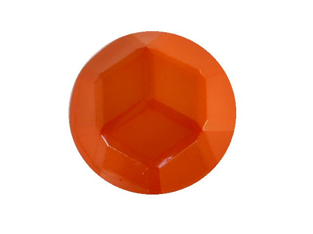 Orange Facet Dome button (no.00398)