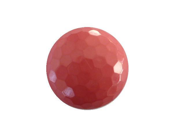 Dusky Pink Hexagonal Facet button (no.00410)
