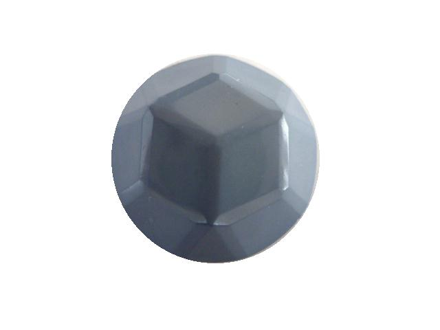 Blue/Grey Facet Dome button (no.00392)