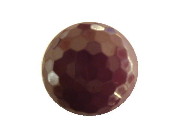 Purple Hexagonal Facet button (no.00413)