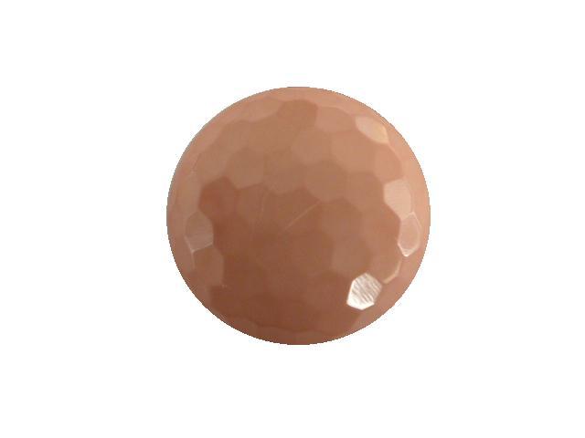 Blush Pink Hexagonal Facet button (no.00411)