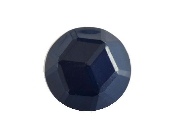 Dark Blue Facet Dome button (no.00395)