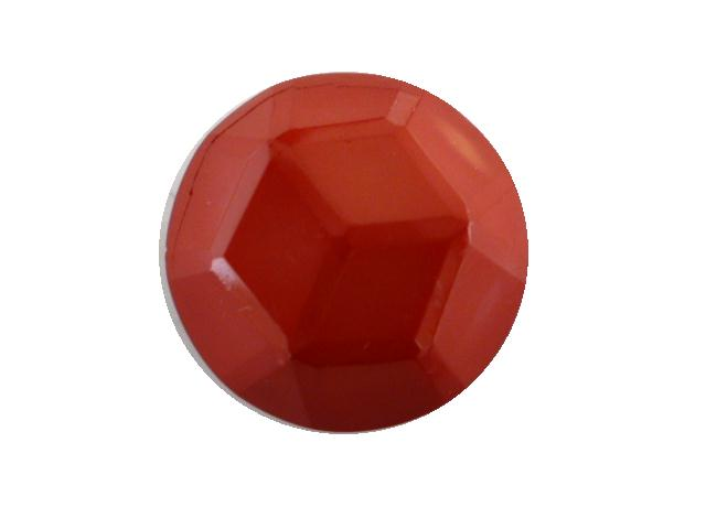 Dark Cerise Facet Dome button (no.00400)