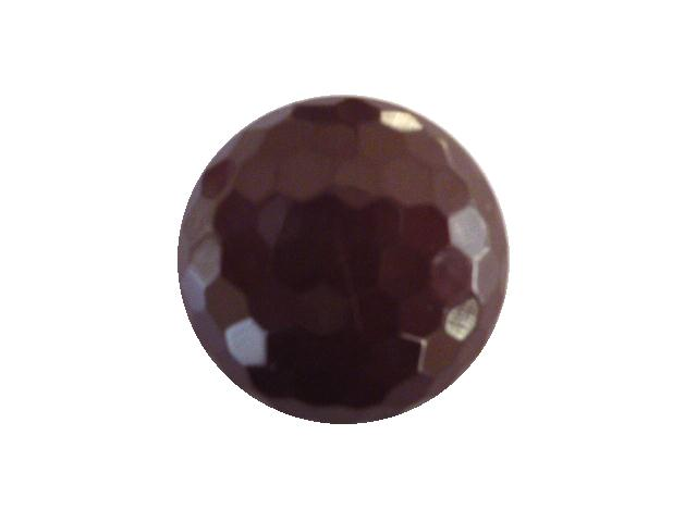 Aubergine Hexagonal Facet button (no.00412)