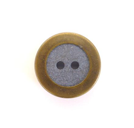 Blue Ceramic Brass Edge button (No.00142)