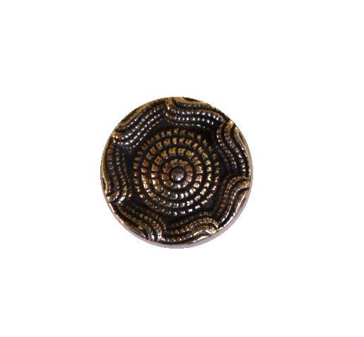 Wavy Edge Small Silver button (no.00434)