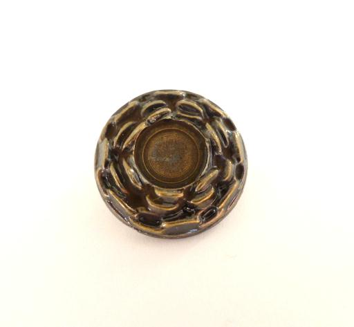 Bronze Chain Small button (no.00437)