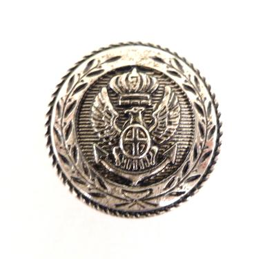 Eagle and Anchor Silver button (no.00459)