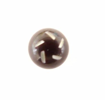 Cut Small Bobble Chocolate Brown button (no.00488)