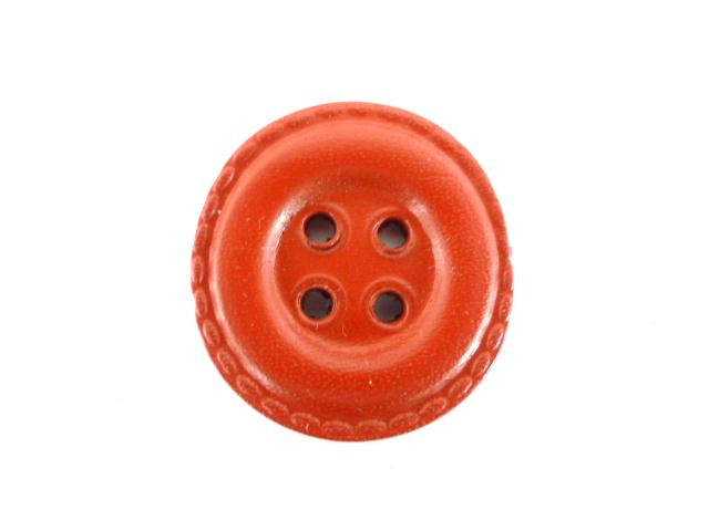 Red Leather Draught button (no.00193)
